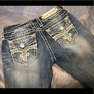 Rock revival women's jeans, ester cuff straight